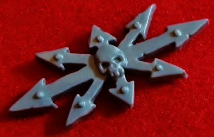 Chaos Space Marine Tank Vehicle 8 Pointed Star Symbol Icon x1 (B)